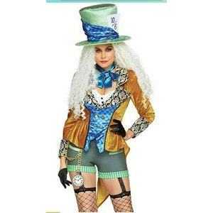 NEW IN PACKAGE Sexy Women's Classic Mad Hatter Cos